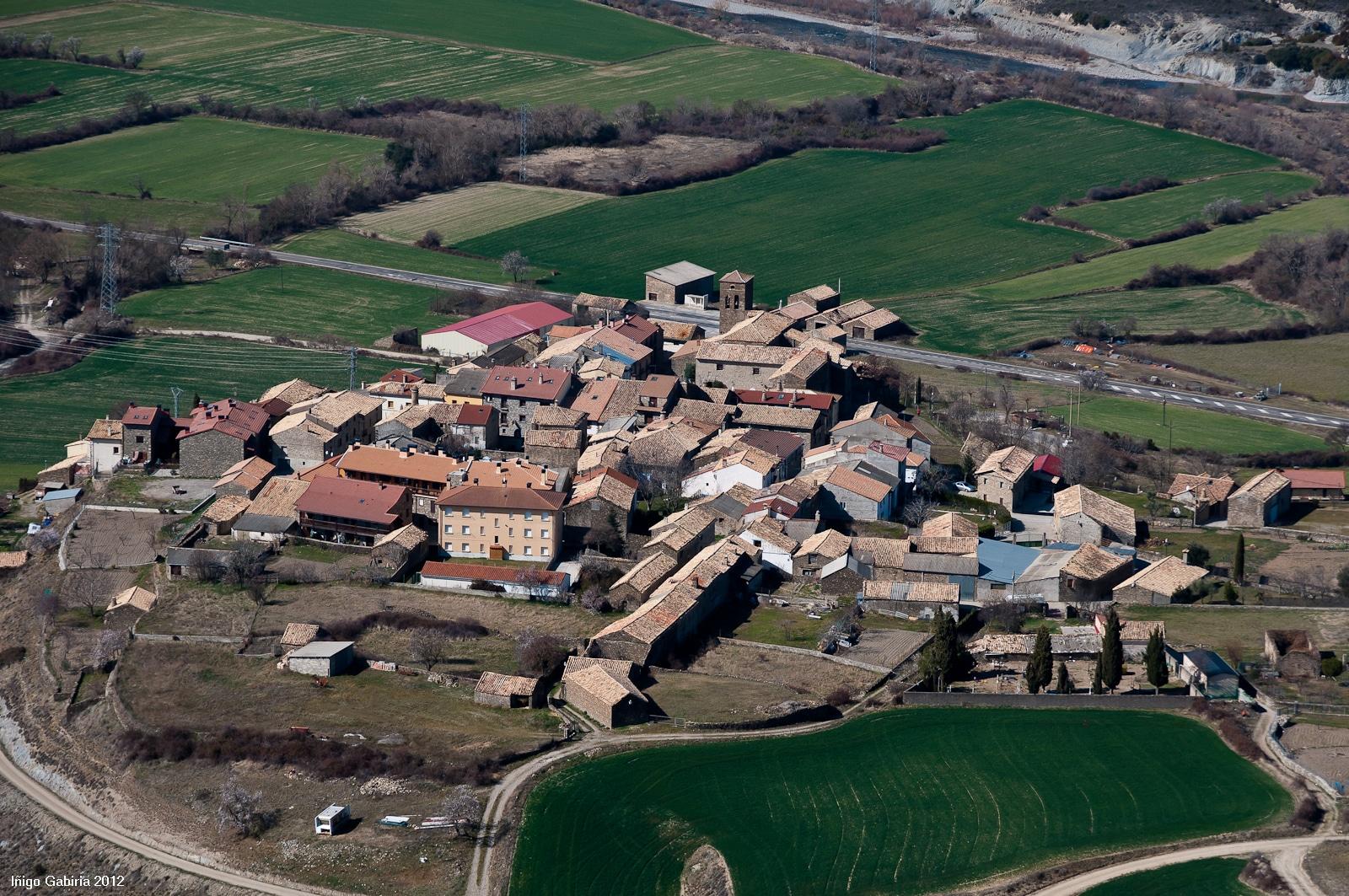 Vista aérea de Javierregay, Jaca